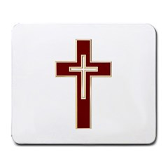 Red Christian Cross Large Mousepad by igorsin