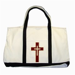 Red Christian Cross Two Tone Tote Bag by igorsin