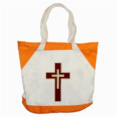 Red Christian Cross Accent Tote Bag by igorsin