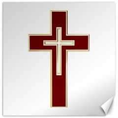 Red Christian Cross Canvas 20  X 20  by igorsin