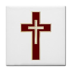 Red Christian Cross Face Towel by igorsin
