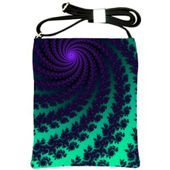 Sssssssfractal Shoulder Sling Bag by urockshop