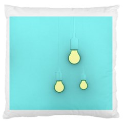 Bright Ideas Large Flano Cushion Cases (one Side)  by essentialimage