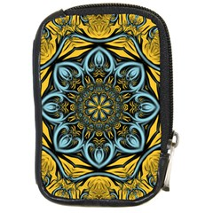 Blue Floral Fractal Compact Camera Cases by igorsin