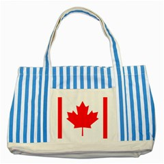 Style 1 Striped Blue Tote Bag