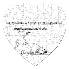 Better To Take Time To Think Jigsaw Puzzle (heart) by mouse