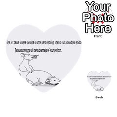 Better To Take Time To Think Multi Purpose Cards (heart)  by mouse