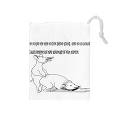 Better To Take Time To Think Drawstring Pouches (medium)