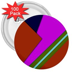 Geo Fun 13 3  Buttons (100 Pack)
