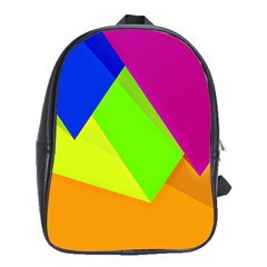 Geo Fun 15 School Bags(large)  by MoreColorsinLife