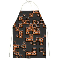 Brown Pieces Full Print Apron by LalyLauraFLM