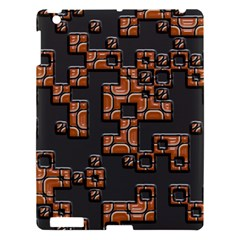 Brown Pieces Apple Ipad 3/4 Hardshell Case by LalyLauraFLM