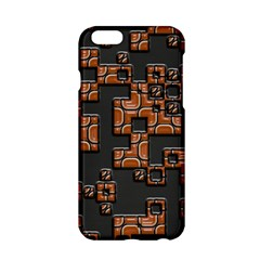Brown Pieces Apple Iphone 6 Hardshell Case by LalyLauraFLM