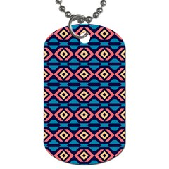 Rhombus  Pattern Dog Tag (two Sides)