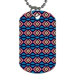 Rhombus  pattern Dog Tag (Two Sides) Back