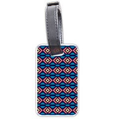 Rhombus  Pattern Luggage Tag (two Sides) by LalyLauraFLM