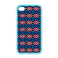 Rhombus  Pattern Apple Iphone 4 Case (color) by LalyLauraFLM