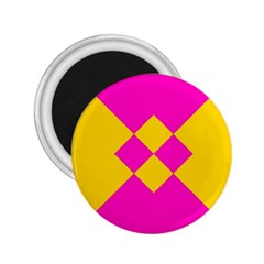Yellow Pink Shapes 2 25  Magnet