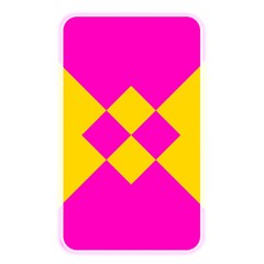 Yellow Pink Shapes Memory Card Reader (rectangular) by LalyLauraFLM