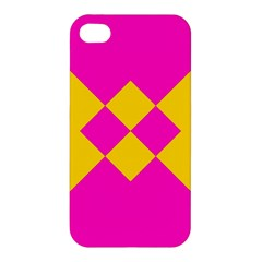 Yellow Pink Shapes Apple Iphone 4/4s Hardshell Case by LalyLauraFLM