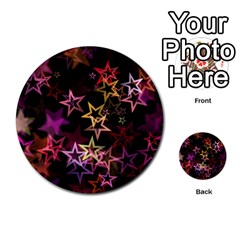 Sparkly Stars Pattern Multi-purpose Cards (round)  by LovelyDesigns4U