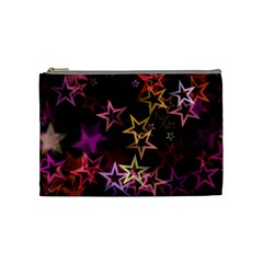 Sparkly Stars Pattern Cosmetic Bag (medium)  by LovelyDesigns4U