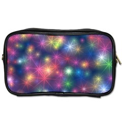 Sparkling Lights Pattern Toiletries Bags 2 Side by LovelyDesigns4U