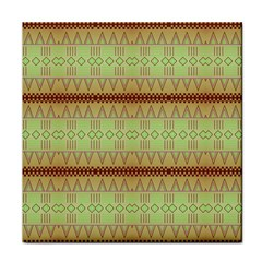 Aztec Pattern Tile Coaster by LalyLauraFLM