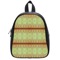 Aztec Pattern School Bag (small) by LalyLauraFLM