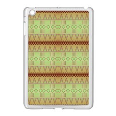 Aztec Pattern Apple Ipad Mini Case (white) by LalyLauraFLM