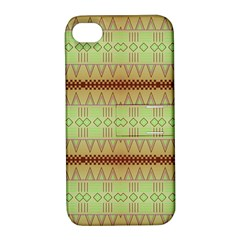 Aztec Pattern Apple Iphone 4/4s Hardshell Case With Stand by LalyLauraFLM