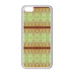 Aztec Pattern Apple Iphone 5c Seamless Case (white) by LalyLauraFLM