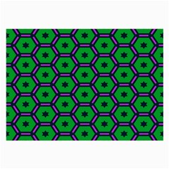 Stars In Hexagons Pattern Large Glasses Cloth (2 Sides) by LalyLauraFLM