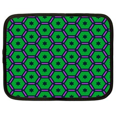 Stars In Hexagons Pattern Netbook Case (large) by LalyLauraFLM