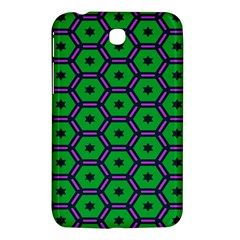 Stars In Hexagons Pattern Samsung Galaxy Tab 3 (7 ) P3200 Hardshell Case  by LalyLauraFLM