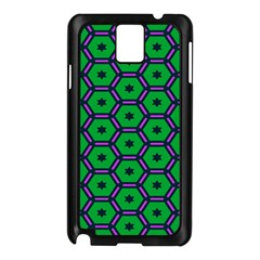 Stars In Hexagons Pattern Samsung Galaxy Note 3 N9005 Case (black) by LalyLauraFLM