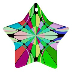 Distorted Flower Star Ornament (two Sides) by LalyLauraFLM