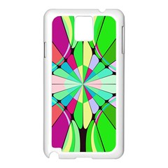Distorted Flower Samsung Galaxy Note 3 N9005 Case (white) by LalyLauraFLM
