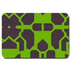 Brown Green Shapes Large Doormat by LalyLauraFLM