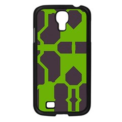 Brown Green Shapes Samsung Galaxy S4 I9500/ I9505 Case (black) by LalyLauraFLM