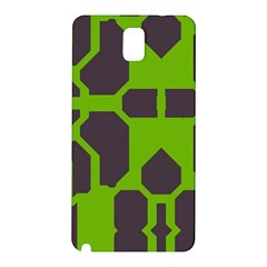 Brown Green Shapes Samsung Galaxy Note 3 N9005 Hardshell Back Case by LalyLauraFLM