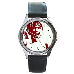 Psycho Round Metal Watches by icarusismartdesigns