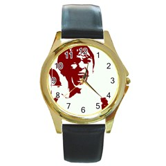 Psycho Round Gold Metal Watches by icarusismartdesigns