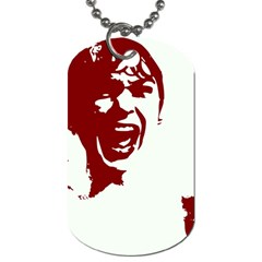 Psycho Dog Tag (two Sides) by icarusismartdesigns