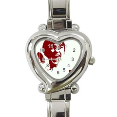 Psycho Heart Italian Charm Watch by icarusismartdesigns