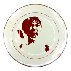 Psycho Porcelain Plates by icarusismartdesigns