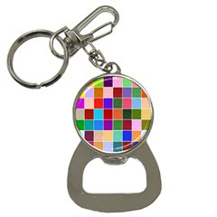 Multi Colour Squares Pattern Bottle Opener Key Chains by LovelyDesigns4U
