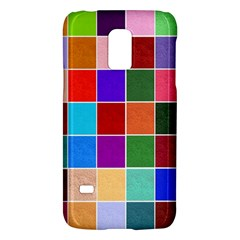 Multi Colour Squares Pattern Galaxy S5 Mini by LovelyDesigns4U