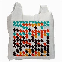 Rectangles On A White Background Recycle Bag (one Side) by LalyLauraFLM