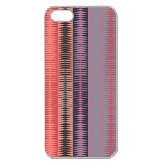 Triangles And Stripes Pattern Apple Seamless Iphone 5 Case (clear) by LalyLauraFLM